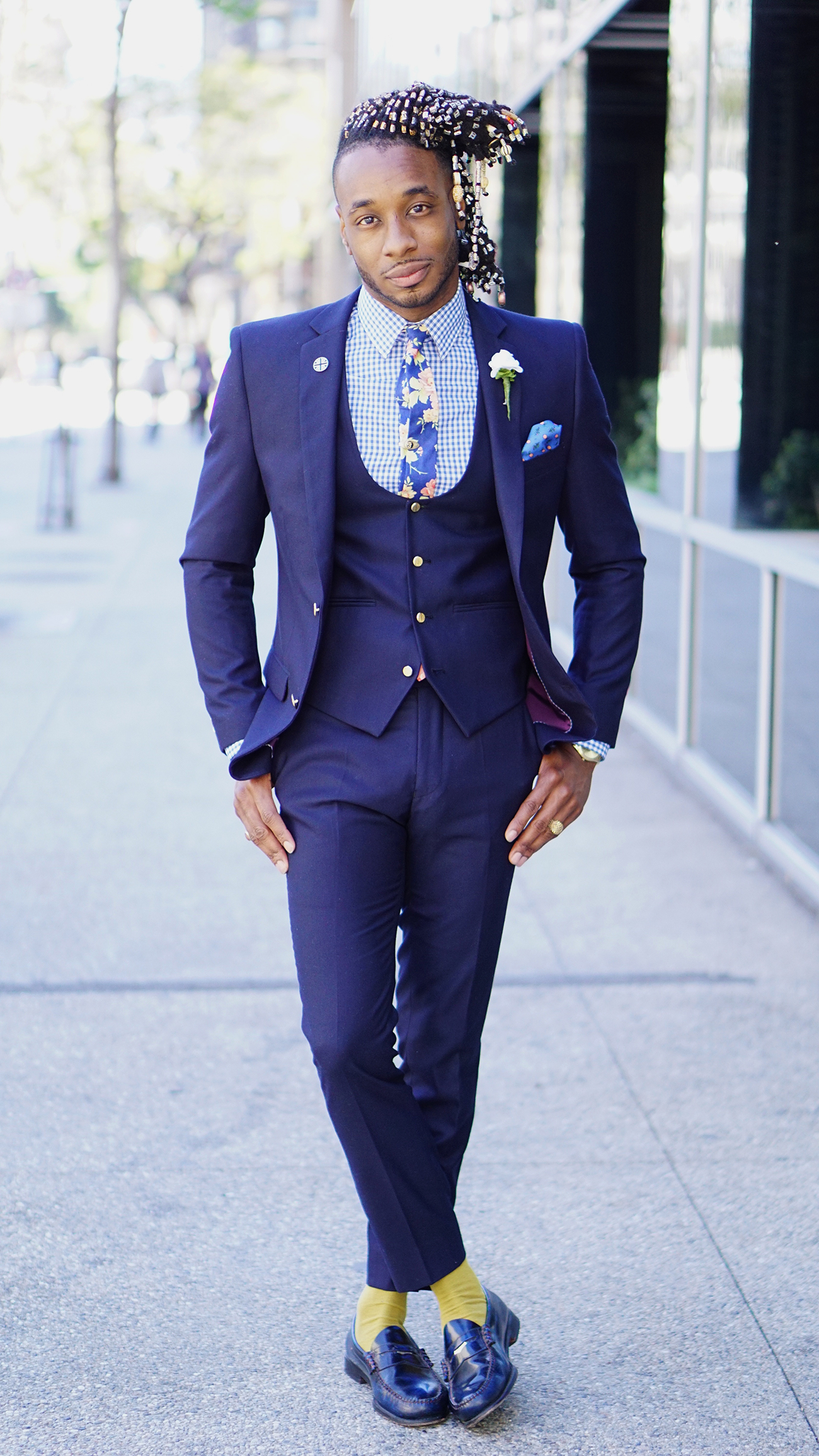 OOTD: NEW 3 PIECE NAVY SUIT – Norris Danta Ford