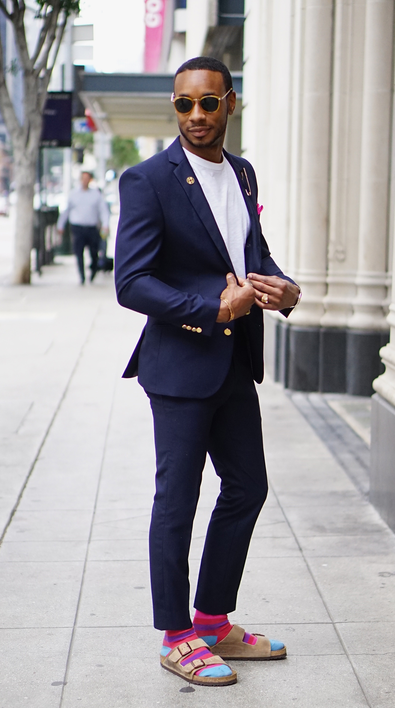 OOTD: BIRKENSTOCK SANDALS WITH A SUIT – Norris Danta Ford