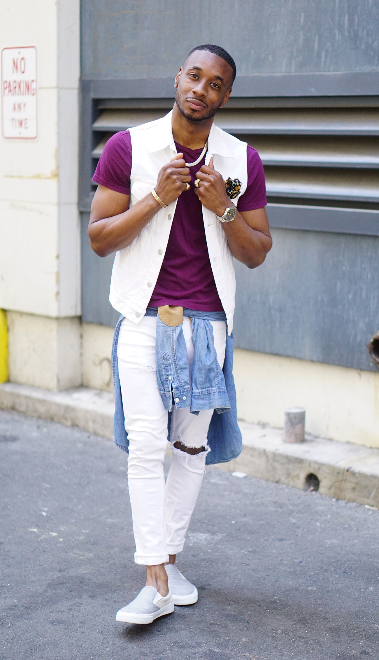 white-denim-vest