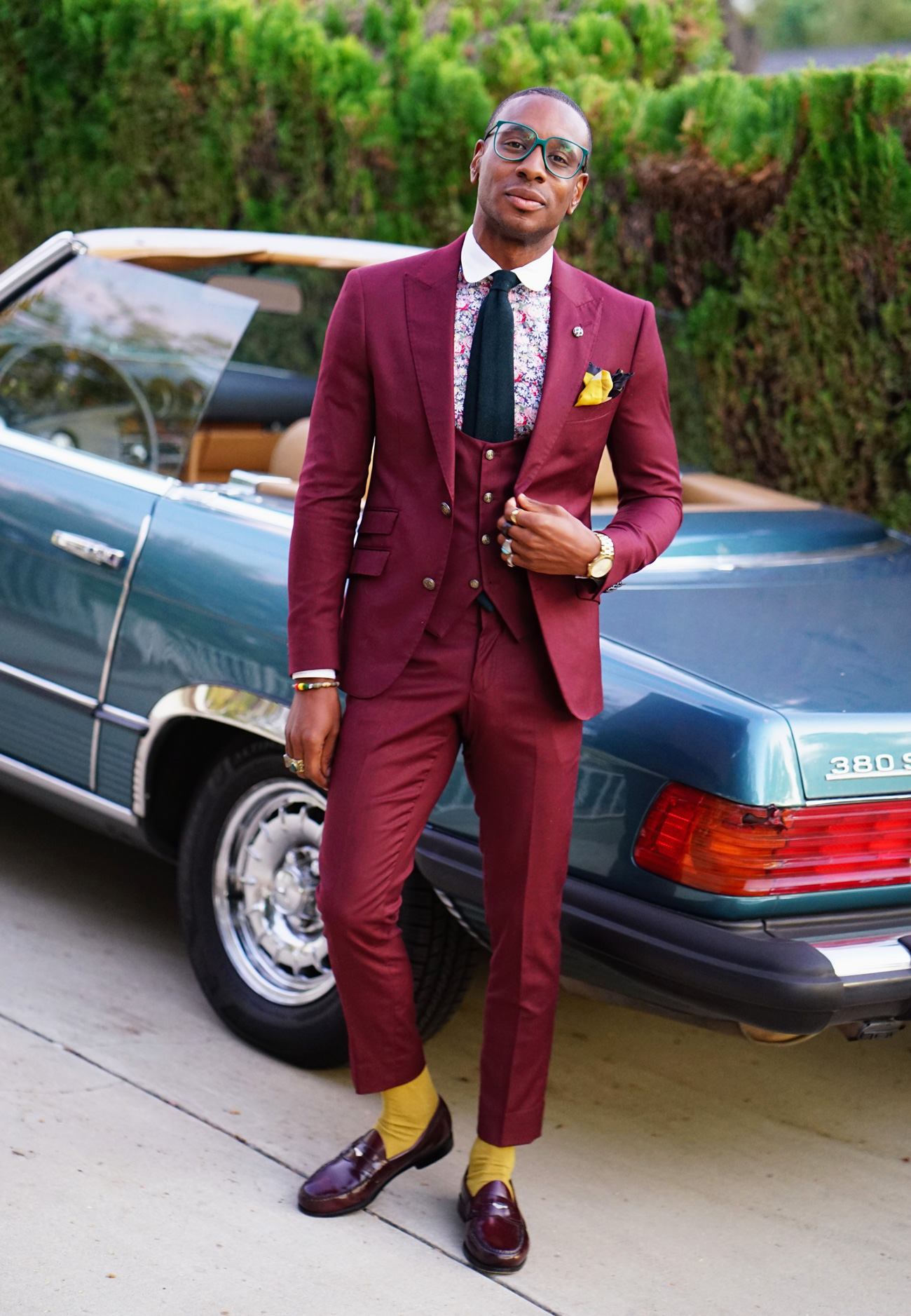 Ootd 3 Piece Burgundy Suit Tailored To Perfection