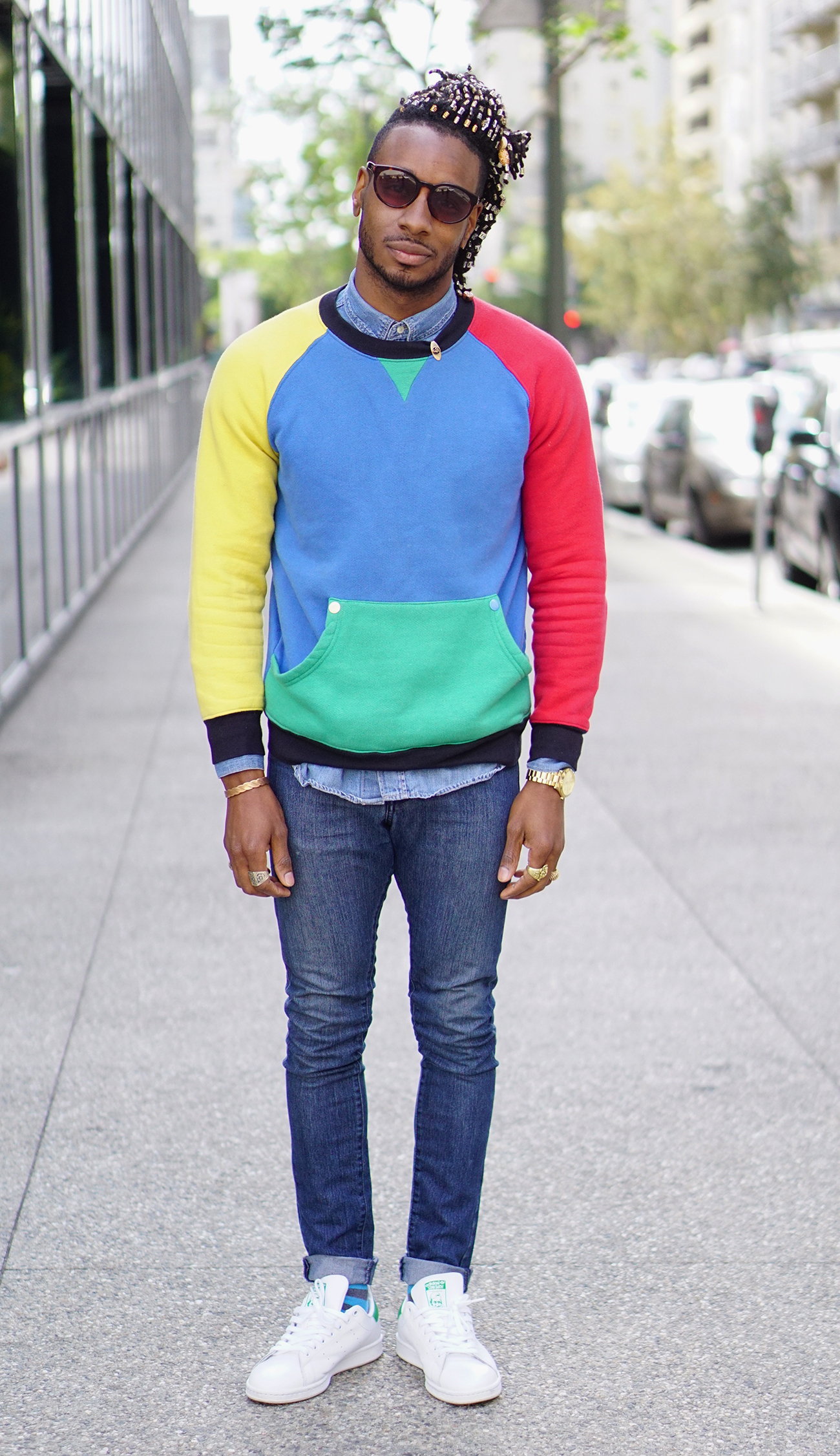 Ootd Multi Colored Sweater Norris Danta Ford
