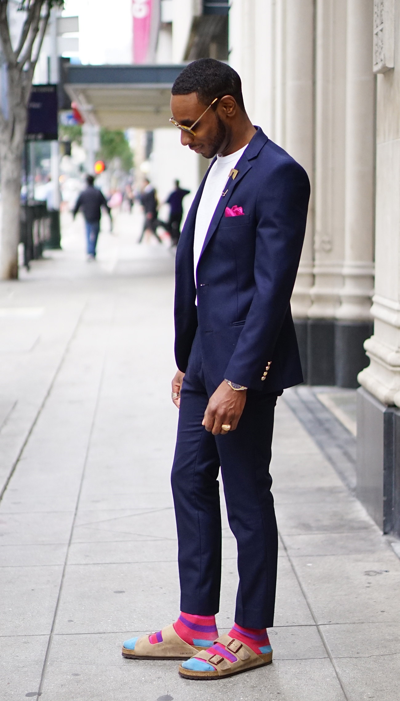 23946e028fe7 OOTD  BIRKENSTOCK SANDALS WITH A SUIT – Norris Danta Ford