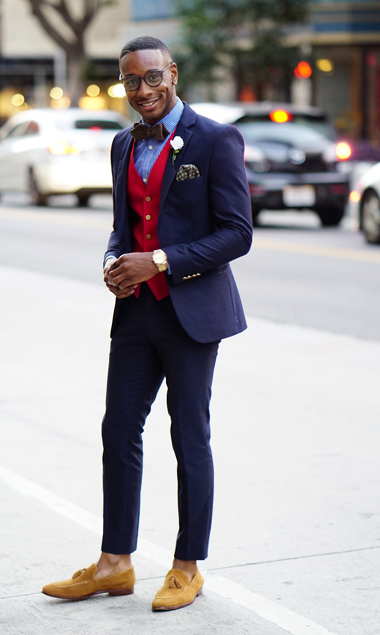 e33ef4a535b3 Ootd All Purpose Navy Suit Bow Tie Norris Danta Ford. Fashion Bow Ties Men  ...