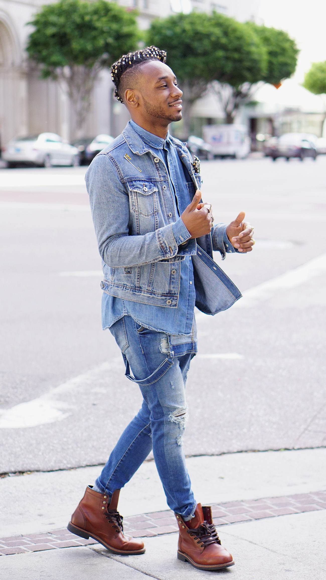 ootd denim layering with overalls � norris danta ford
