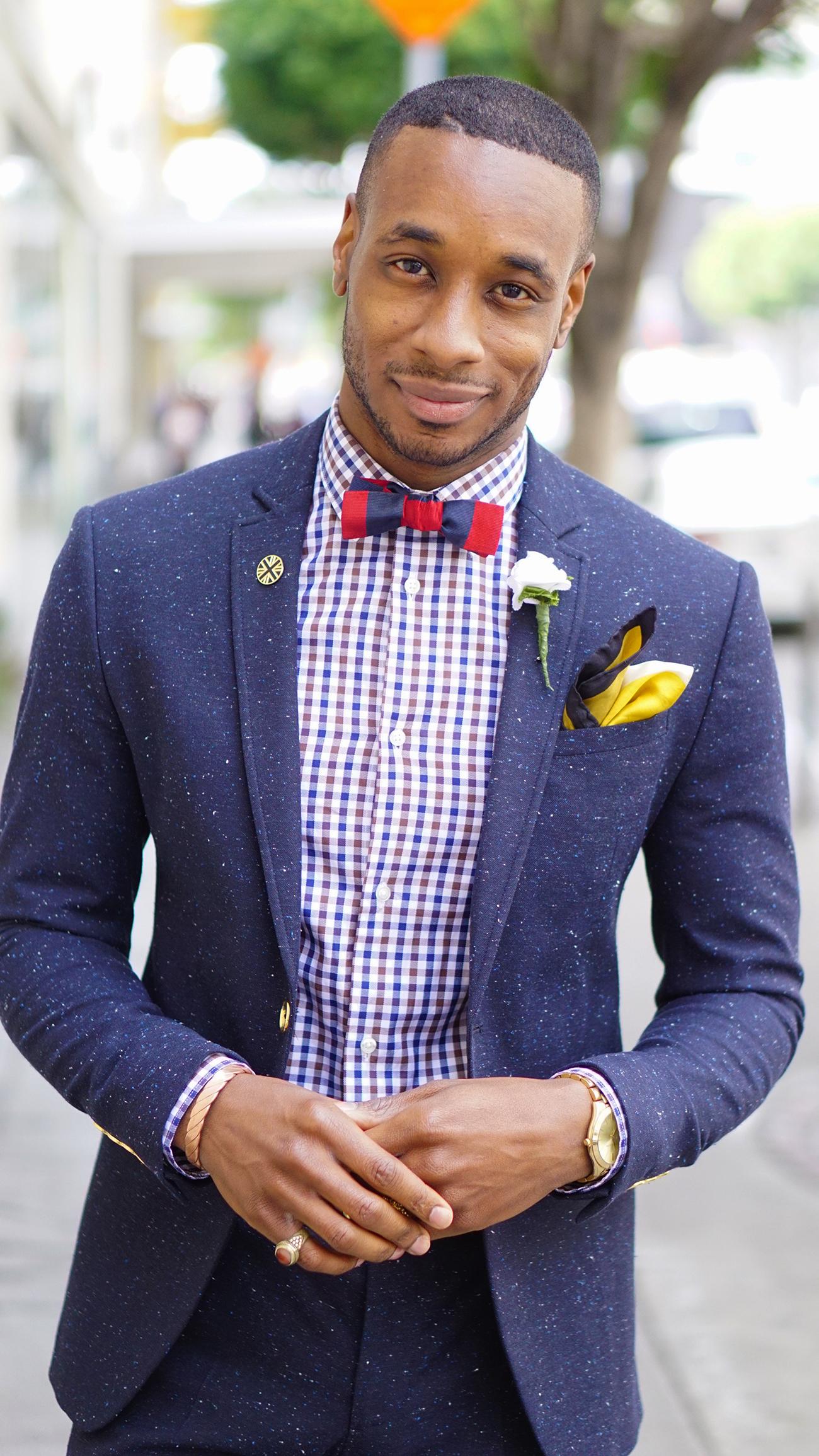 Ootd Navy Tweed Suit Norris Danta Ford