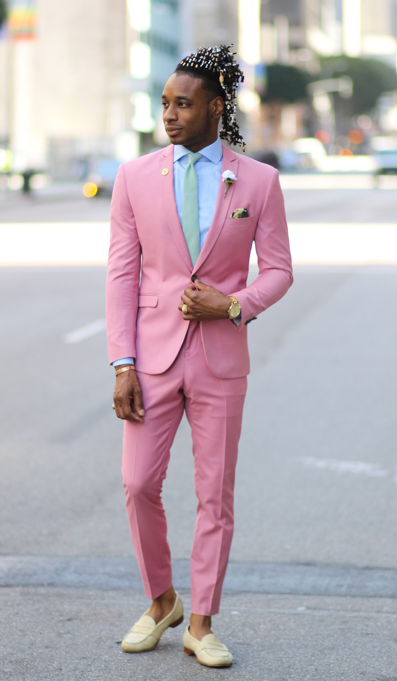 Ootd Pink Suit For The Summer Norris Danta Ford