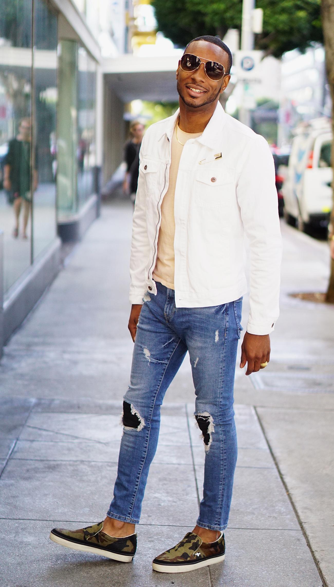 Ootd White Denim Jacket Norris Danta Ford