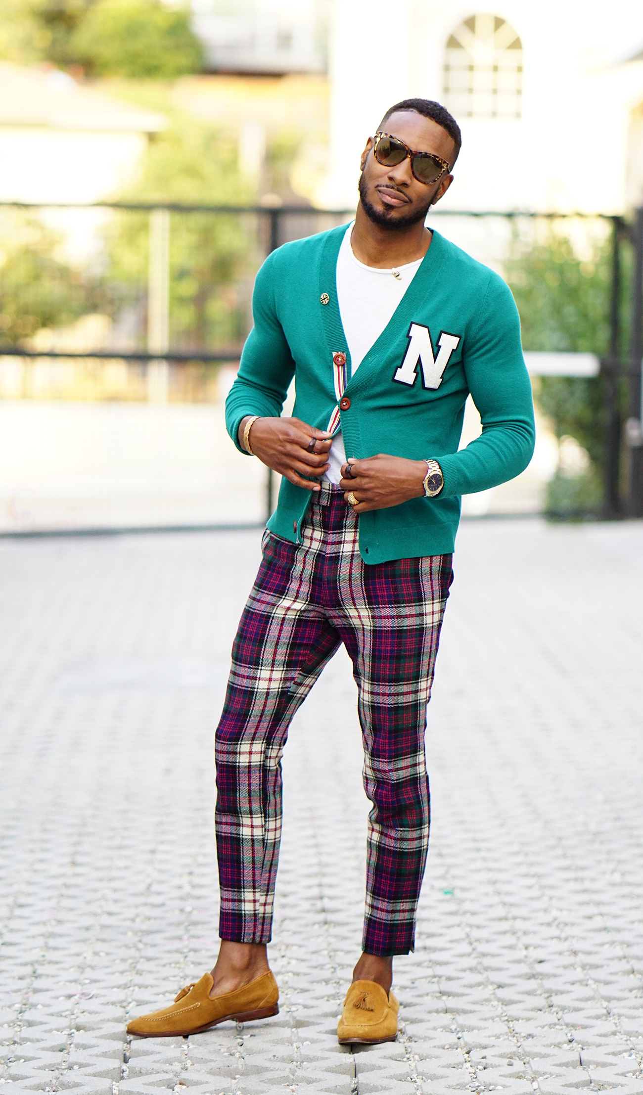DIY: IVY LEAGUE CARDIGAN + PLAID PANTS + LOAFERS – Norris ...