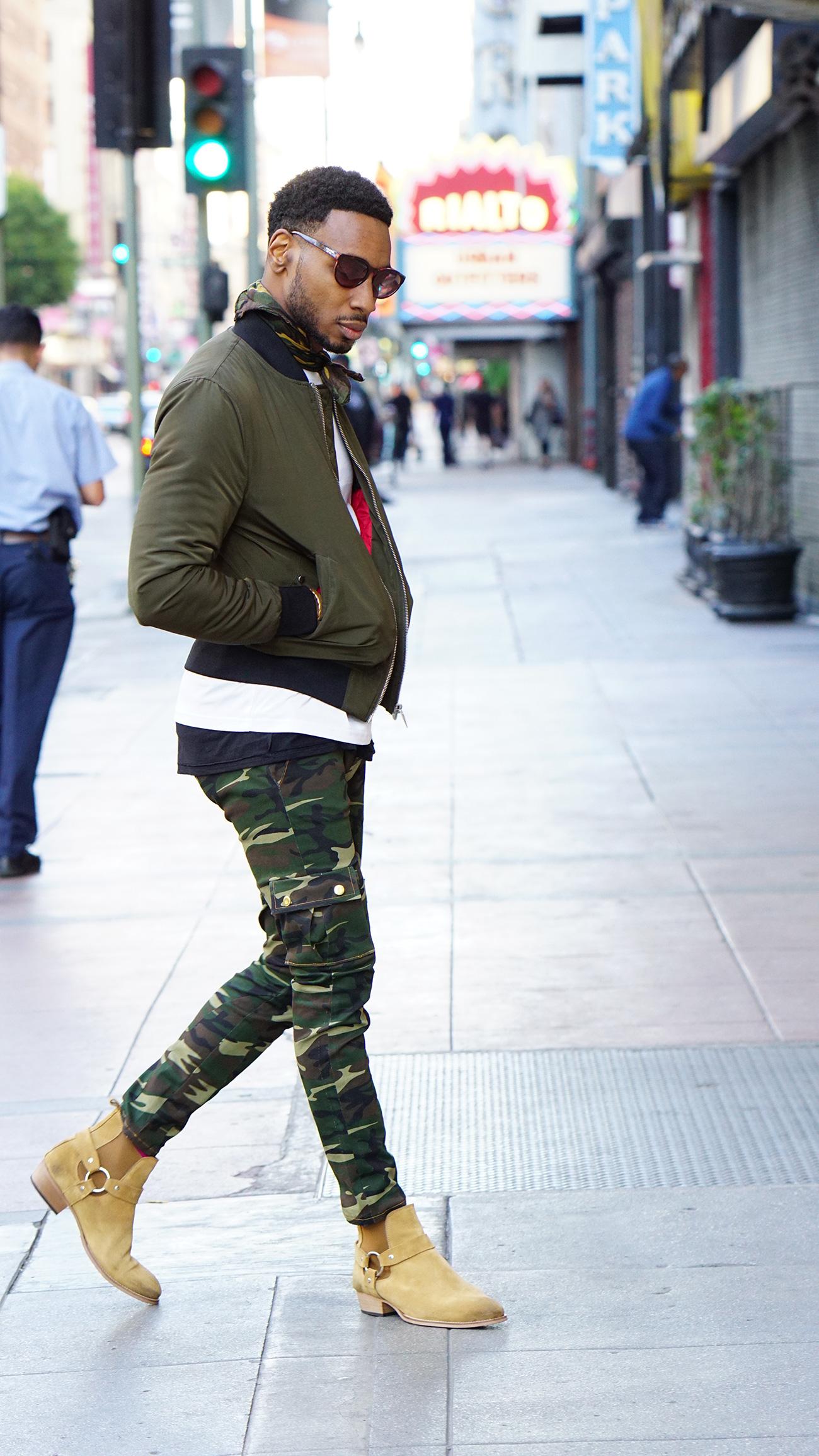 diy bomber jacket camo cargo chelsea boots � norris