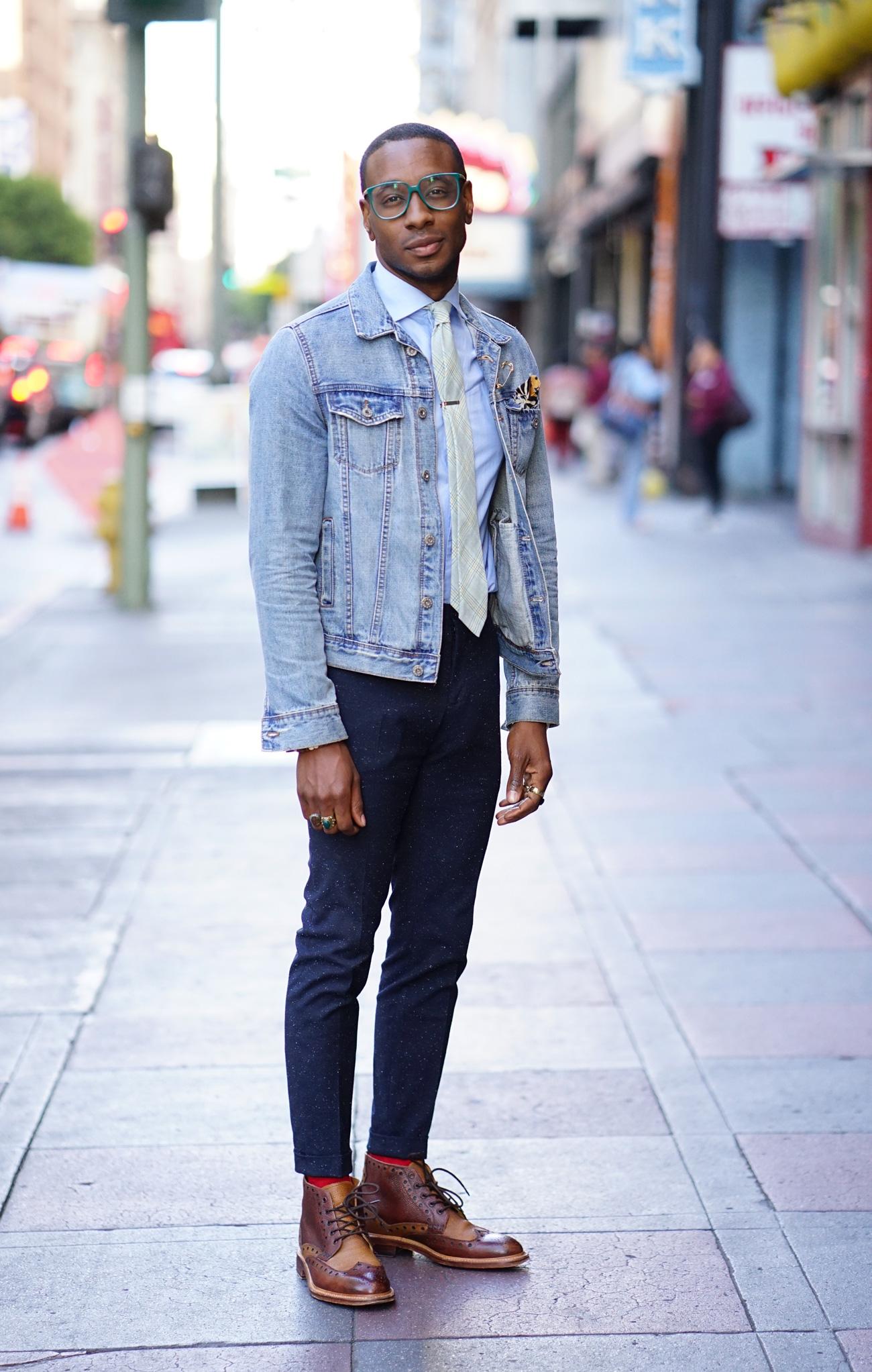 Ootd Denim Jacket Amp Suit Pants Norris Danta Ford